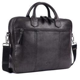 Laptop Messenger Bag (14 inch size) – Lazio – Charcoal Black