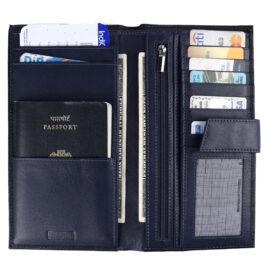 Travel Document Holder – Black / Navy Blue