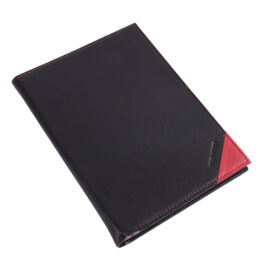 Executive Folder with Writing Pad (A5 Size) – Black