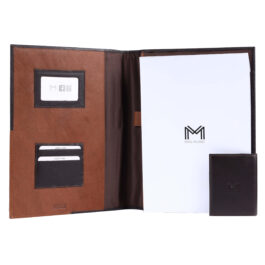Executive Folder with Writing Pad (A4 Size) – Brown