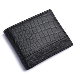 RFID Protected Men's Slim Wallet – Cremona – Black