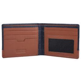 RFID Protected Men's Slim Wallet – Cremona – Blue