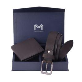Gift Set for Men (Wallet & Belt) – Trieste – Brown