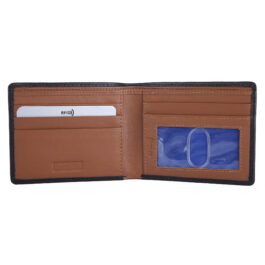 RFID Protected Men's Slim Wallet – Manarola – Black/Cognac