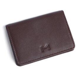 Slim Visiting Card Holder – Brown