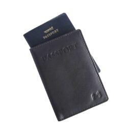 Slim Passport Cover – Midnight Black