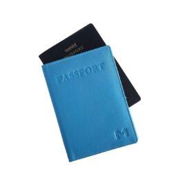 Slim Passport Holder – Brilliant Blue