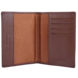 RFID Protected Slim Passport Holder – Brown