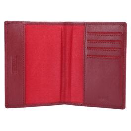 RFID Protected Slim Passport Holder – Red