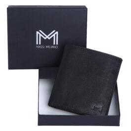 Men's Vertical Wallet – Rome – Black