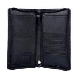 Travel Document Holder with Zip – Black