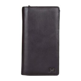 Travel Document Holder with Zip – Brown