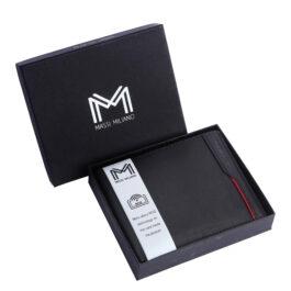 RFID Protected Men's Wallet – Verona – Black/Red