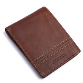 RFID Protected Men's Trifold Wallet – Sicily – Cognac