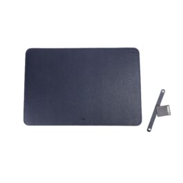 Leather Desk Pad – Small – Navy Blue