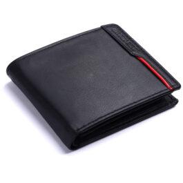 Men's Trifold Wallet – Verona – Black/Red