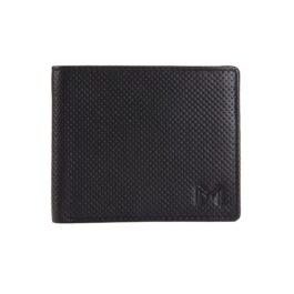 Men's Textured Slim Wallet – Florence – Black