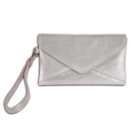 Women's Wristlet Purse – Venezia – Glittery Silver