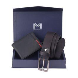 Gift Set for Men (Wallet & Belt) – Verona – Black