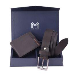 Gift Set for Men (Wallet & Belt) – Verona – Brown